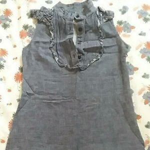 SUNNER Denim Sleeveless Dress